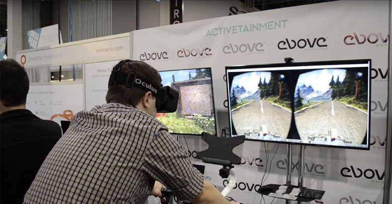 mountain biking with oculus rift