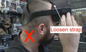 how not to strap your Oculus Quest