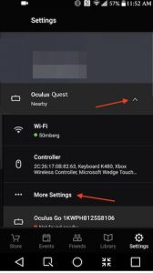 steps to enabling developer mode on the Quest headset